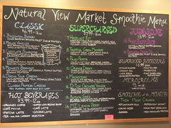 A menu of Natural View Market