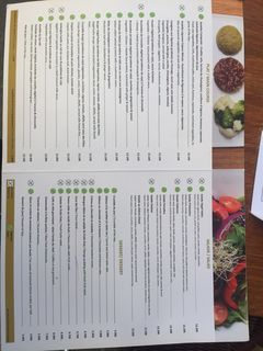 A menu of Veget'Halles