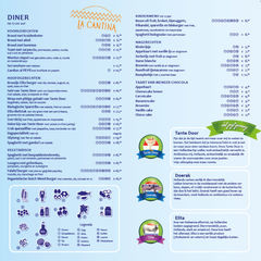 A menu of La Cantina