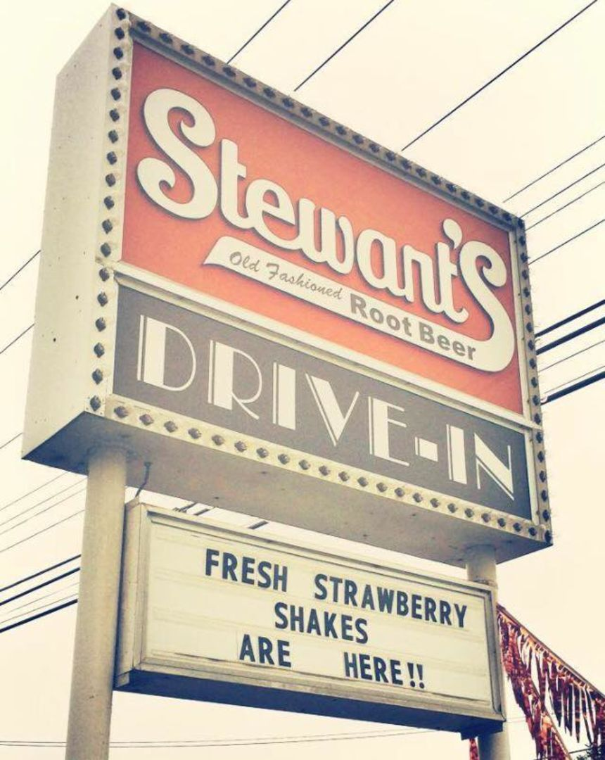 A photo of Stewart's Drive-In