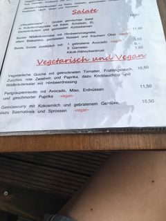 A menu of Alt-Enginger Mühle