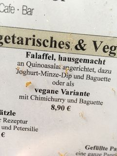 A menu of Hasbergscher Hof
