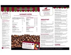 A menu of Cranberry's Grocery & Eatery