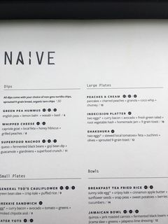 A menu of Naive