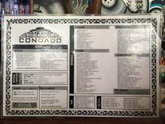 A menu of Condado Tacos, Pittsburgh