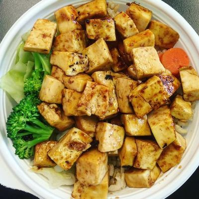 A photo of Flame Broiler, 15091 Newport Avenue