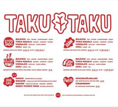 A menu of Taku-Taku, Norrsken House