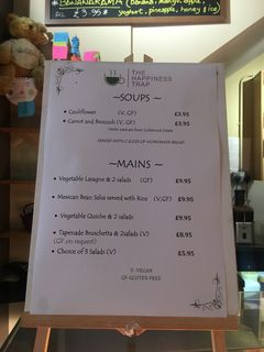A menu of The Happiness Trap