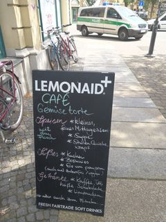 A menu of Café Gemüsetorte