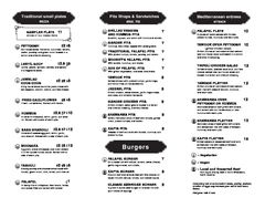 A menu of Mooney's Mediterranean Café
