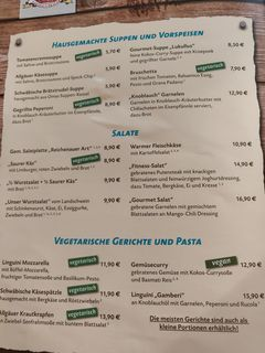 A menu of Max&Moritz