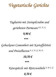 A menu of Kurhotel Pyramide
