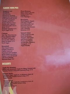 A menu of Guido's First Ave Pizza