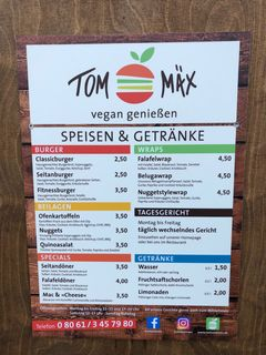 A menu of Tom & Mäx