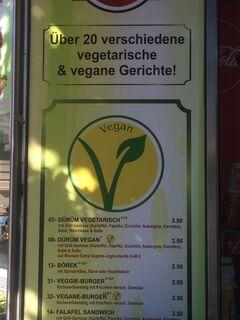A menu of Big Döner