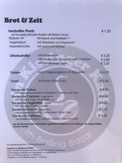 A menu of Mein Kissinger Kaffee