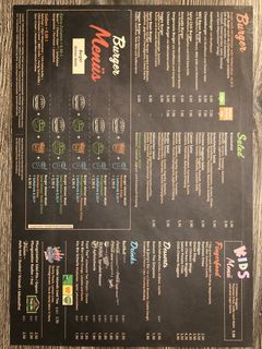 A menu of Danny's Burger