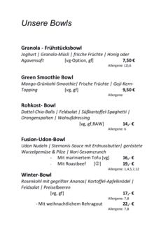 A menu of Eugens