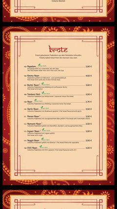 A menu of Ganesha