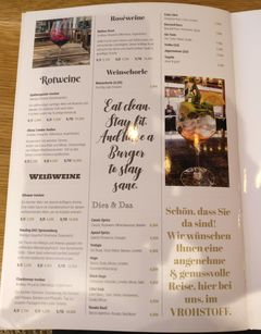 A menu of Vrohstoff
