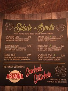 A menu of Arizona