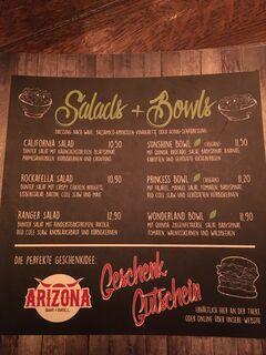 A menu of Arizona