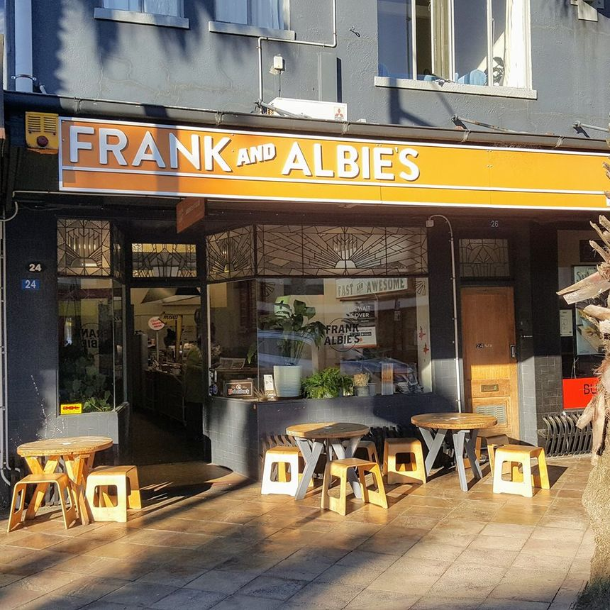 A photo of Frank and Albie's