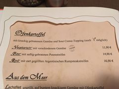A menu of Pfefferkörnchen