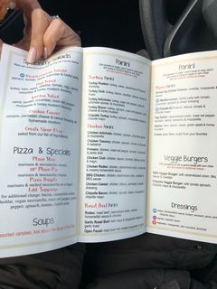 A menu of Bare Naked Bakery & Café