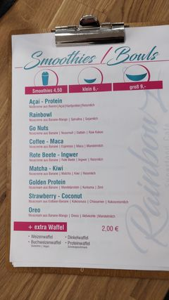A menu of RainbowL