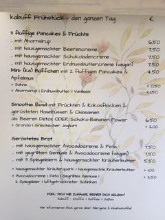 A menu of Kabuff