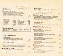 A menu of Celona, Wolfsburg