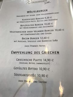 A menu of Winzerhaus Rauenthal by Wölfel