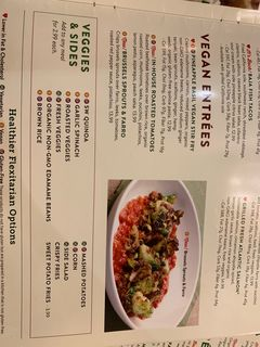 A menu of Silver Diner, Tysons Corner