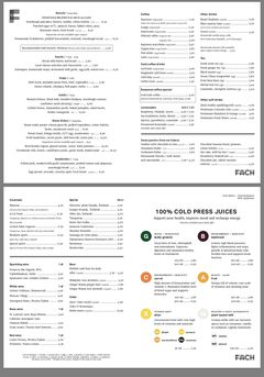 A menu of Fach