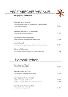 A menu of Süden