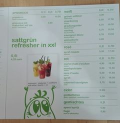 A menu of sattgrün, Theaterpassage