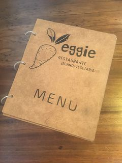 A menu of El Punto Vegetal