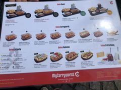 A menu of MyCurrywurst, Worms