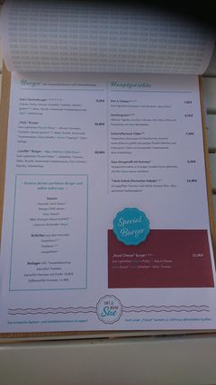 A menu of Café Sue
