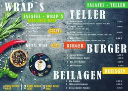 A menu of Mr. Falafel
