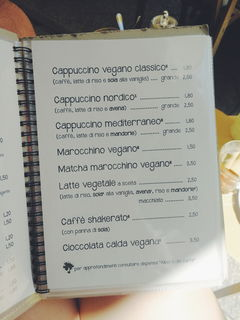 A menu of Sali & Pistacchi
