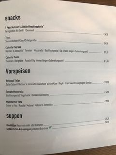A menu of freistil