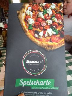 A menu of Mamma's Simple Food, Bocholt
