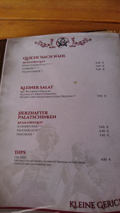 A menu of Märchencafé