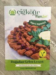 A menu of Veganland Cigköfte, Bonn
