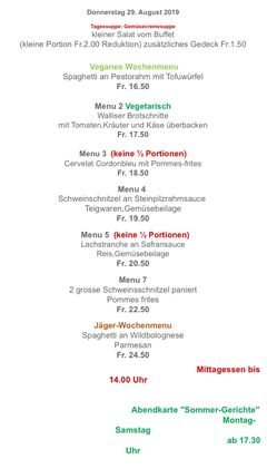 A menu of Knobel, Altendorf