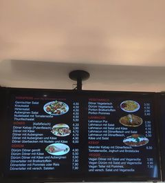 A menu of Bra Kebap Haus