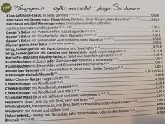 A menu of S'hirscheck