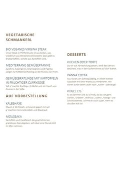 A menu of Wirtshaus in der Lechaue